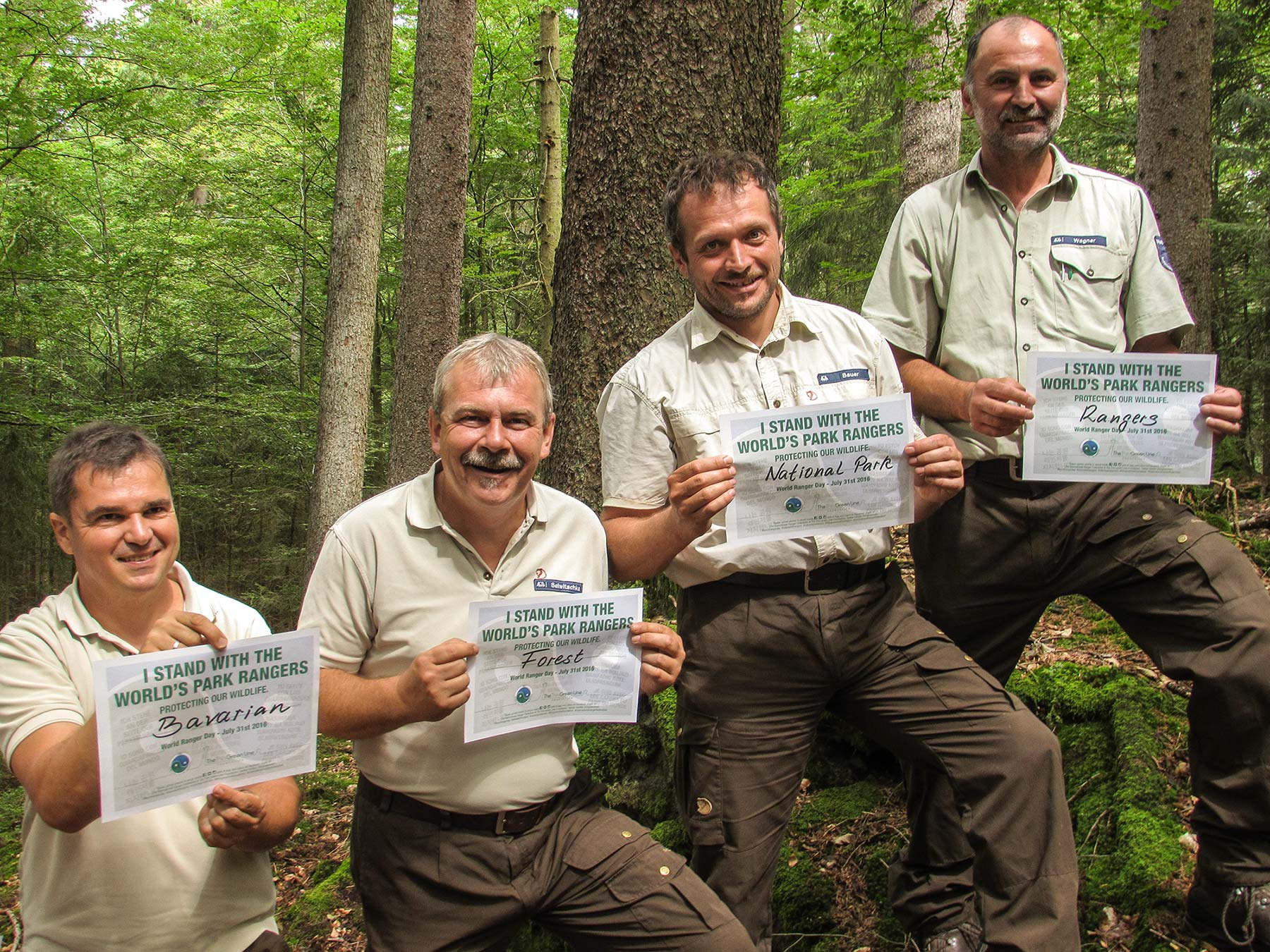 Aktion zum World Ranger Day